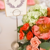 Elegant Reception Table Numbers