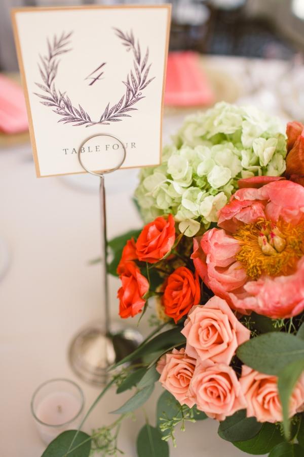 Elegant Reception Table Numbers