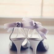 Elegant Silver Bridal Heels