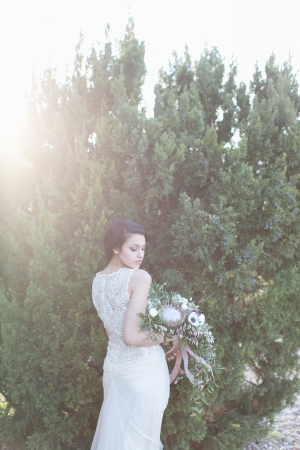 Embroidered Back Bridal Gown