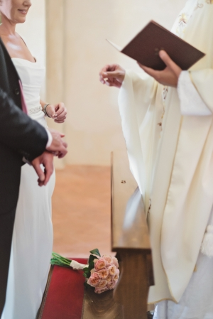 Exchanging of Rings Wedding in Italy