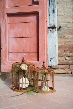 Flowers in Hanging Cages