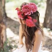Fuchsia Flower Headpiece
