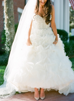 Glamorous Lazaro Gown