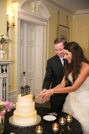 Gold Glitter Wedding Cake