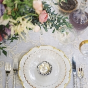 Gold Scalloped China