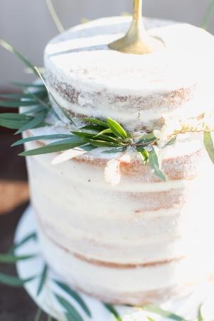 Greenery Sprigs on Wedding Cake