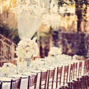Hanging Outdoor Chandeliers Maui Reception