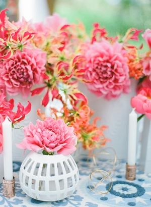 Hot Pink Centerpieces