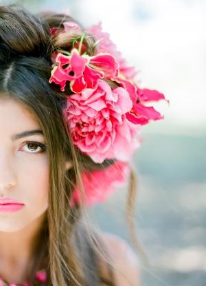 Hot Pink Flower Crown