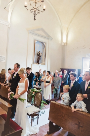 Italian Countryside Church Wedding