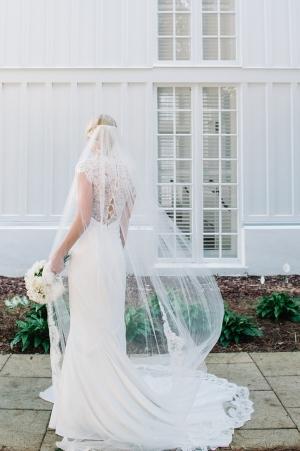 Lace Accents on Bridal Attire