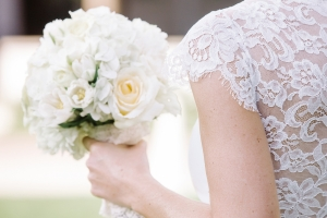 Lace Back on Bridal Gown