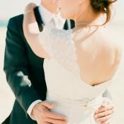 Lace Shoulder Bohemian Bridal Gown