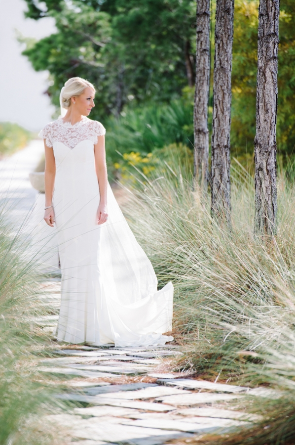 Lace Top Column Style Bridal Gown
