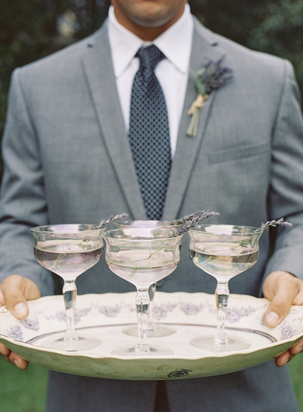 Lavender Cocktails on Tray