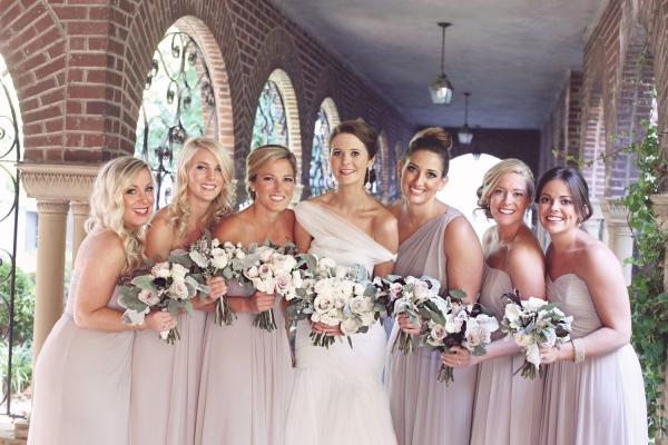 Light Taupe Bridesmaids Dresses