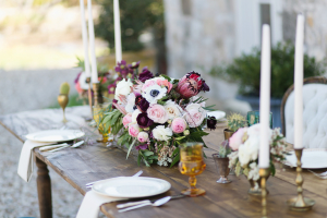 Mauve and Pink Centerpiece
