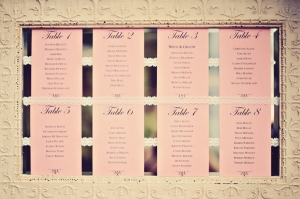 Metal and Lace Seating Chart