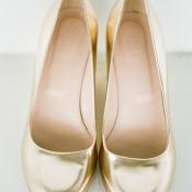 Metallic Gold Bridal Heels