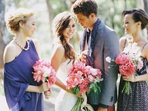 Modern Bohemian Blue Wedding Party