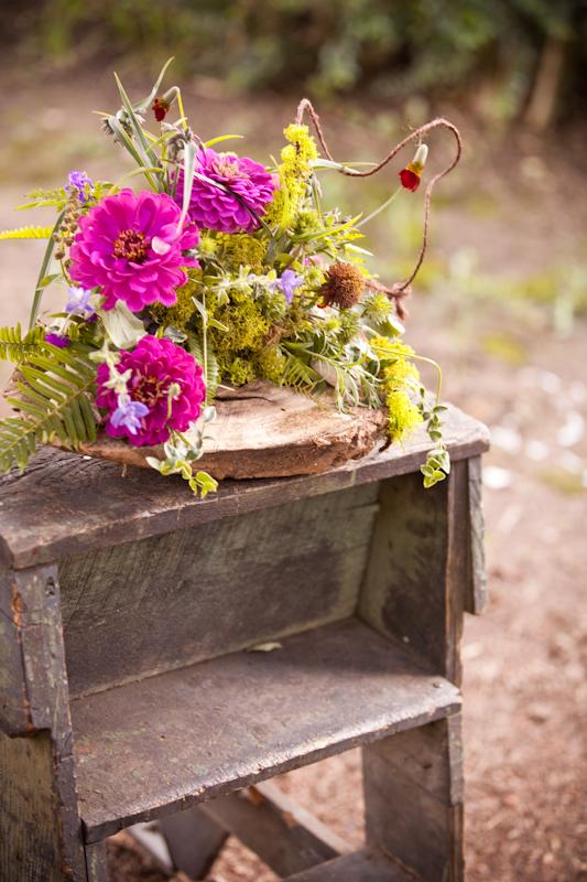 Mossy Rustic Wedding Flowers