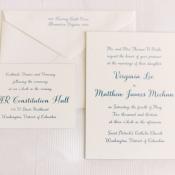 Navy and Cream Wedding Invitation