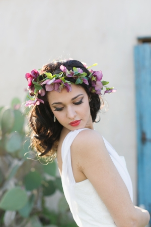 Orchid and Greenery Hair Wreath