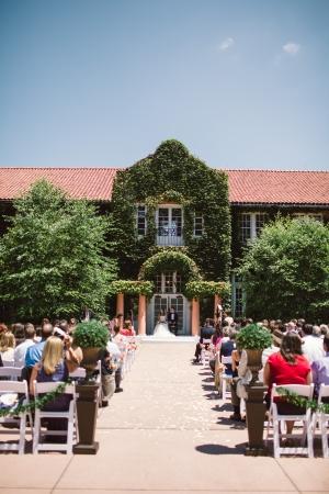 Outdoor Country Club Wedding Ceremony