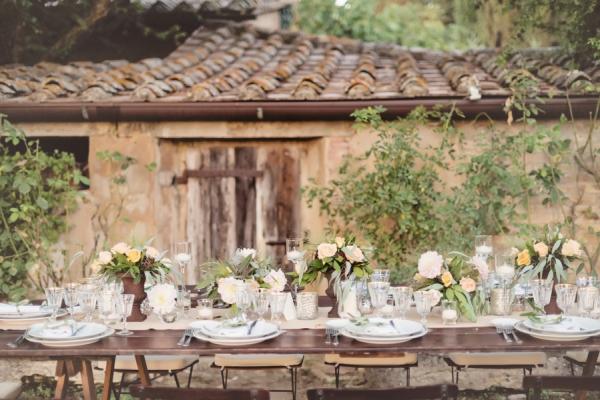 Outdoor Italian Countryside Wedding Reception