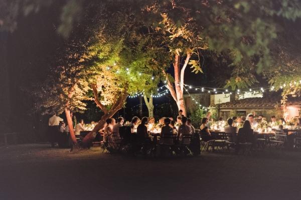 Outdoor Italian Countryside Wedding Reception Venue