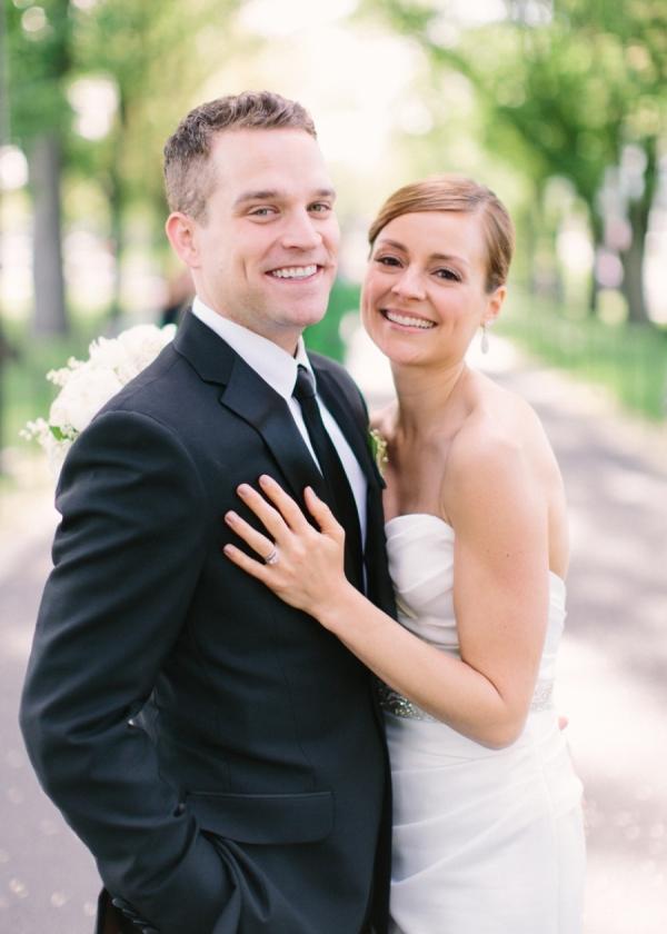 Outdoor Portrait Bride and Groom in DC