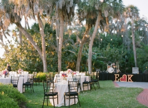 Outdoor Waterfront Reception in Florida