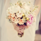 Pale Rose Bridal Bouquet