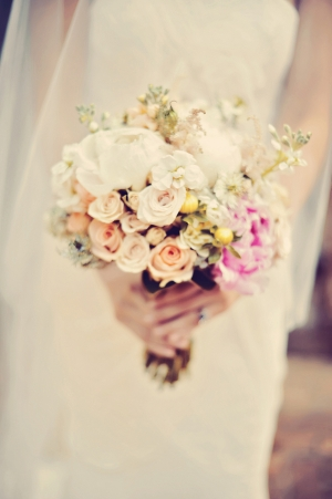 Pale Rose Bridal Bouquet