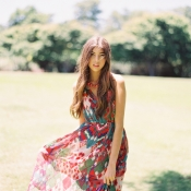 Patterned Bridesmaid Dress