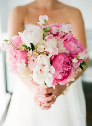 Peony Rose and Sweet Pea Bouquet by Southern Blooms