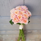 Pink Garden Rose Bouquet