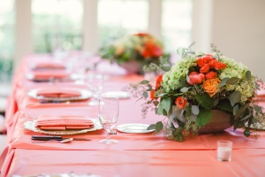 Pink and Green Reception