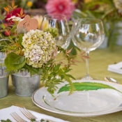 Place Cards in Flower Pots