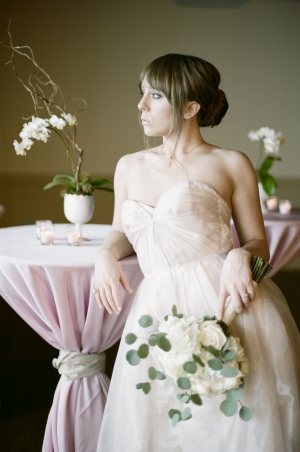 Pleated Silk Bridal Gown