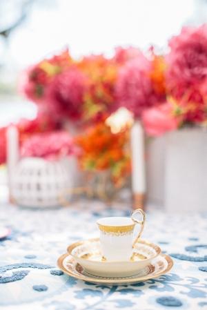Pretty Gold Teacup