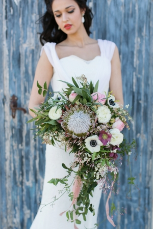 Protea and Poppy Bouquet