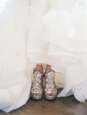Rosebud Platform Bridal Shoes