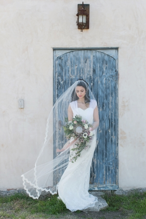 Scalloped Lace Cathedral Veil