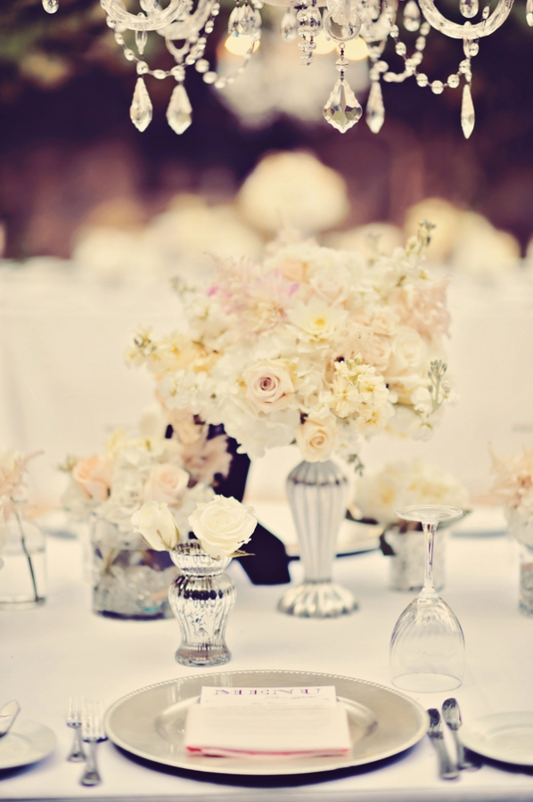Silver Place Settings Reception Ideas