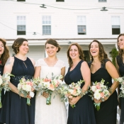 Sleeveless Navy Bridesmaids Dresses
