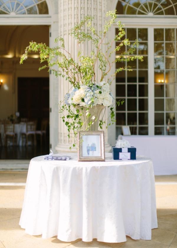 Tall Cream and Green Floral Reception Arrangement