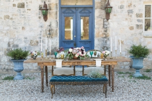 Turquoise and Gold Tablescape