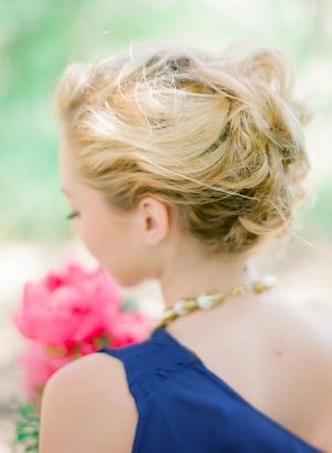 Upswept Bridesmaid Hair